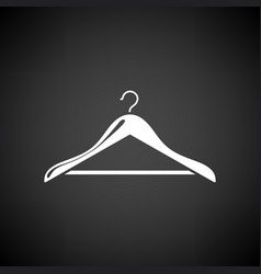 cloth hanger icon vector image vector image