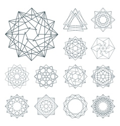 Collection of different graphic elements for desig vector image vector image