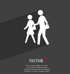 Crosswalk icon symbol flat modern web design with vector