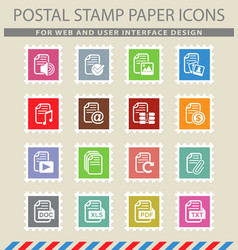Document icon set vector