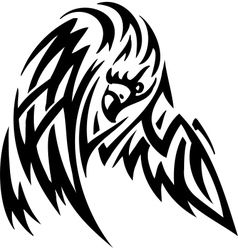 Eagle in tribal style - vector