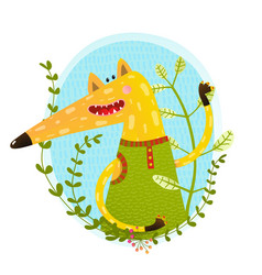 fox portrait in wild vector image