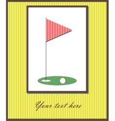 Golf card vector image