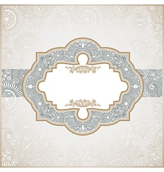 Hand draw ornate floral vintage template vector