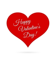 Happy Valentines Day inside red heart vector image