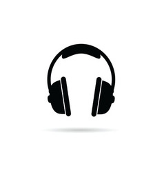 headphones black and white vector image