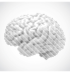 Human brain on white background vector image vector image