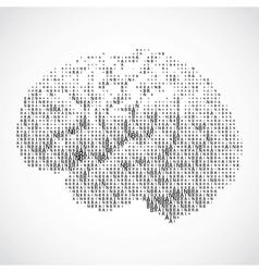 Human brain on white background vector