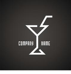 logo wineglass vector image vector image