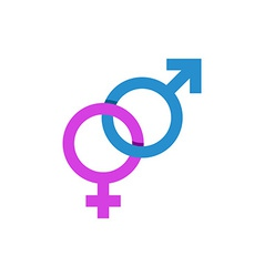 Mars and Venus signs male and female symbol vector image