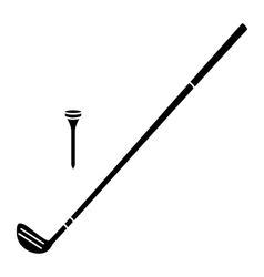 New golf simple icon vector image