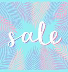 Sale design calligraphy vector