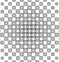 Seamless black and white square pattern design vector