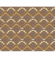 seamless pattern with boomerangs and arrows vector image vector image