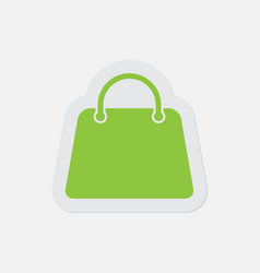 Simple green icon - handbag bag vector