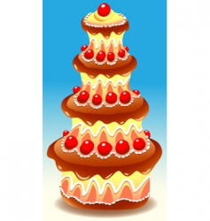 tiered cake vector image vector image