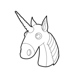 Unicorn icon outline style vector image