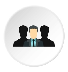 Unidentified male avatars icon flat style vector