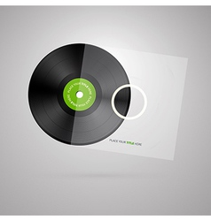 Vinyl record disc isolated on white background vector