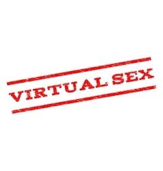 Virtual sex watermark stamp vector