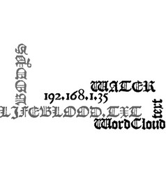 Water is our bodys lifeblood text word cloud vector