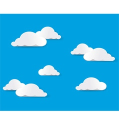 white clouds vector vector image vector image