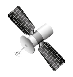 Satellite communication isolated icon vector