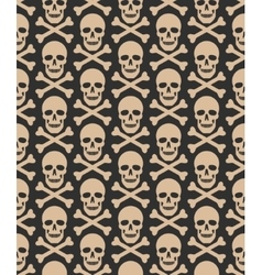 Skull seamless dark pattern vector