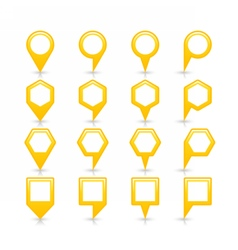 Flat yellow color map pin sign location icon vector
