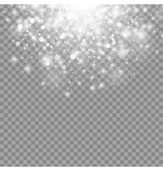 Magic white glow light effect isolated on vector