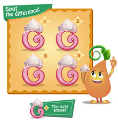 Spot the difference letters g vector