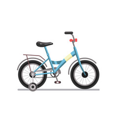 Mountain bicycle transportation vehicle isolated vector
