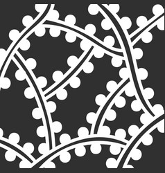 Abstract monochrome hand drawn doodle pattern vector