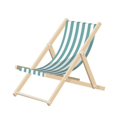 the striped sunchair isolated over white vector image