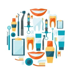 Medical background design with dental equipment vector