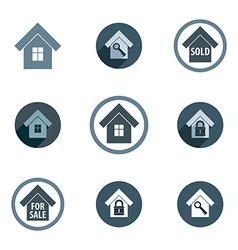 Real estate icons set realty theme symbols collec vector