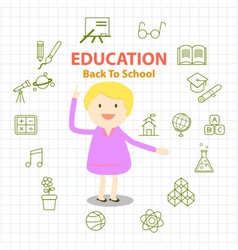 Education icons set and infographic vector