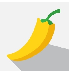 Yellow paprika and long shadow vector