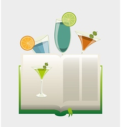 Cocktail recipe book vector