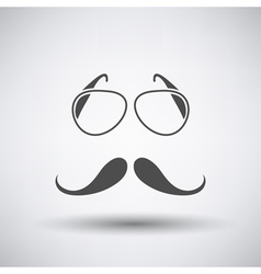 Glasses and mustache icon vector