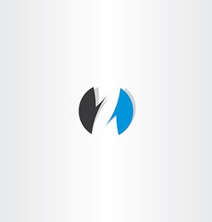 Letter z logo blue black circle sign icon vector
