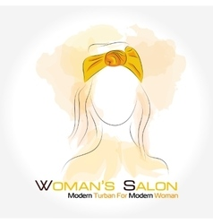 Silhouette woman in a turban vector image