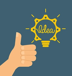 best idea design vector image