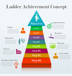 Ladder achievement concept vector