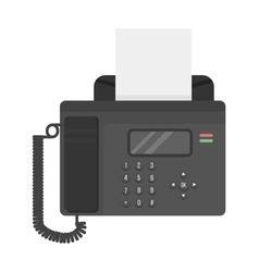 Office phone fax technology vector