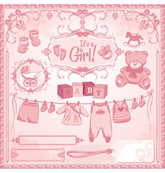 baby girl childbirth vector image