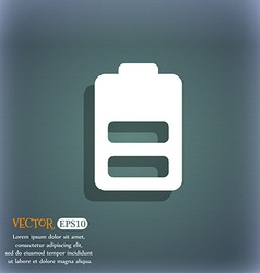 Battery half level low electricity icon symbol on vector