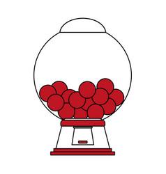 Candy machine design vector