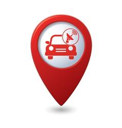 Cars satelite red pointer vector