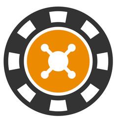 Casino chip flat icon vector